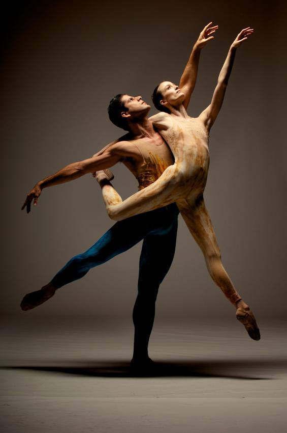 Nudist Men And Women Dance