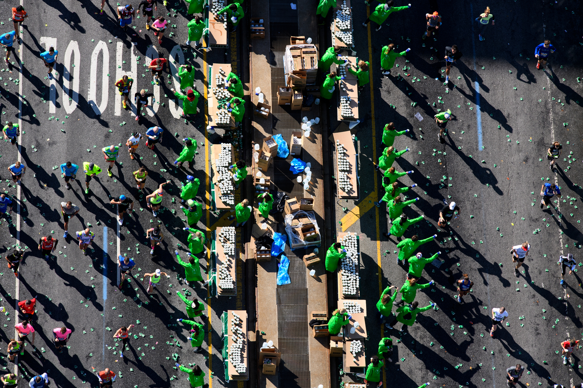 New York, NY - November 6, 2016: ****Aerial Coverage of the New York City Marathon for ESPN. **** (Joe McNally for ESPN)