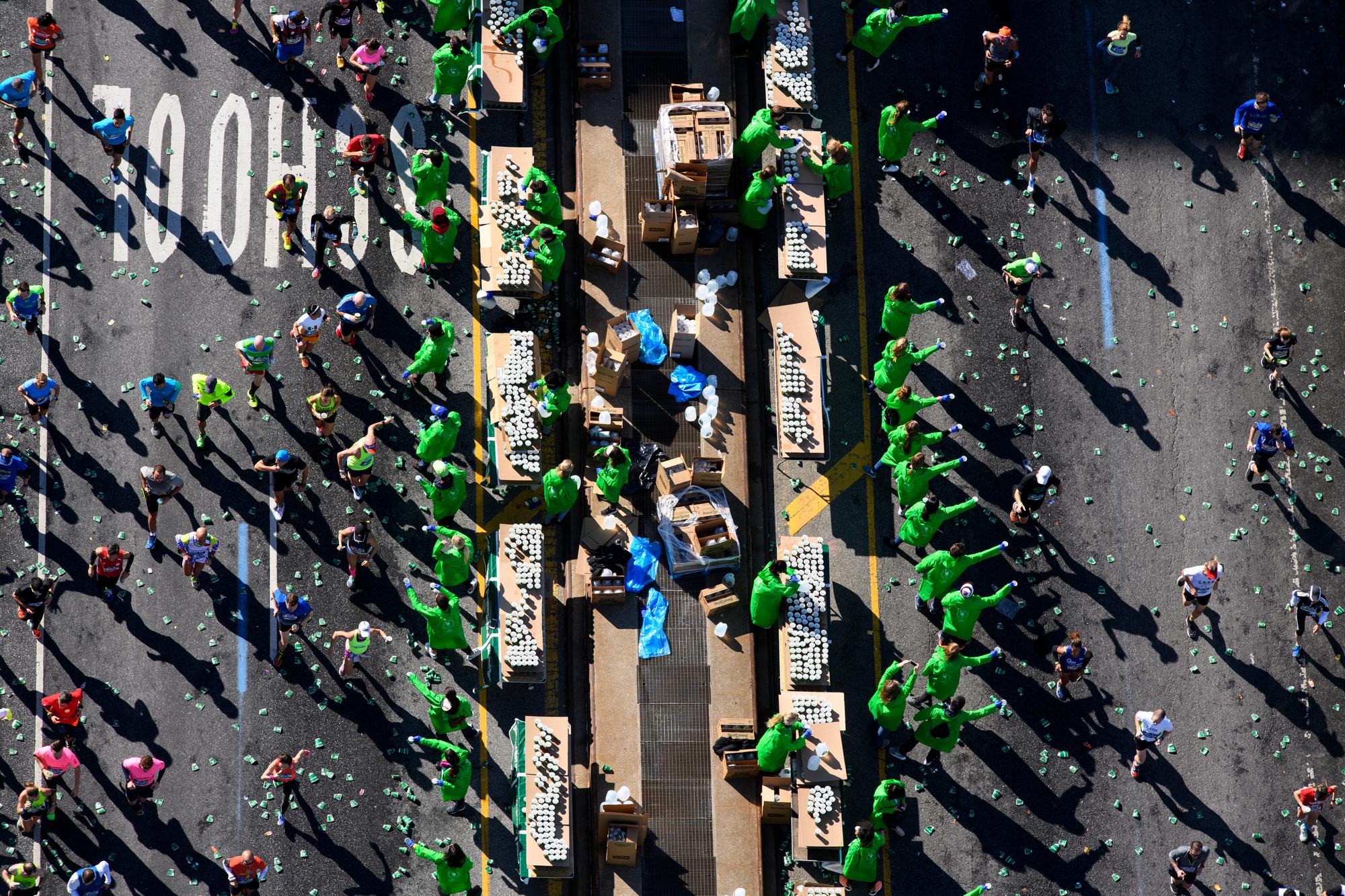 New York, NY - November 6, 2016: ****Aerial Coverage of the New York City Marathon for ESPN. **** (Joe McNally for ESPN)